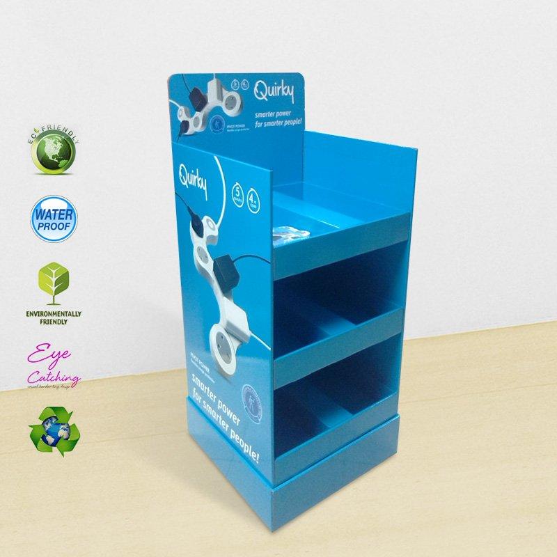 CAI YI JIE Multi-Function Socket Paper Shelf Display Stand Cardboard Floor Display image15