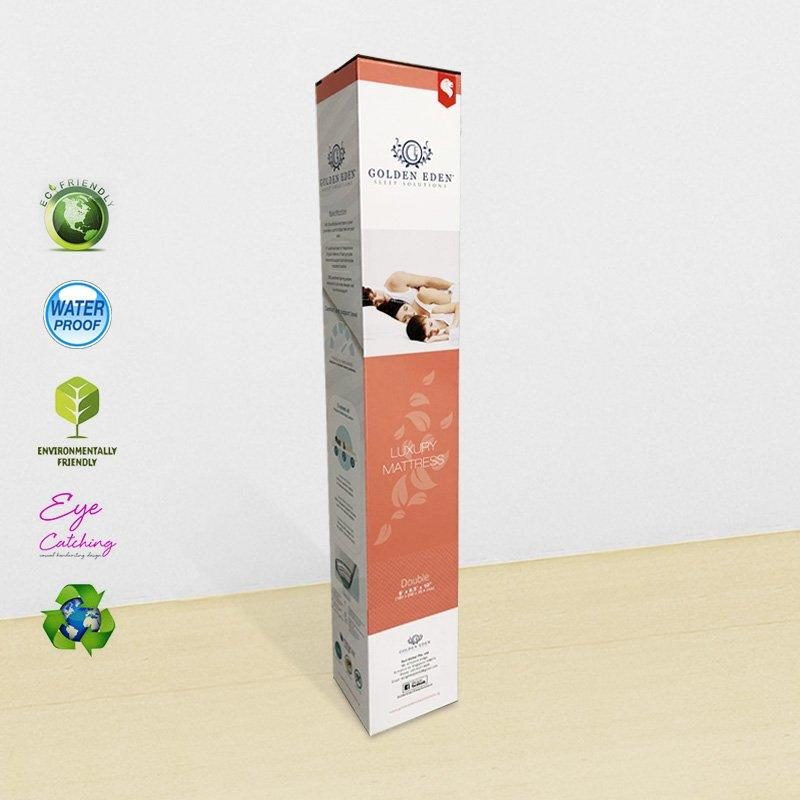 Custom Extra Large Strong Long Corrugated Packaging Box For Rolled Pocket Mattress In A Box