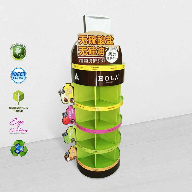 CAI YI JIE 5 Shelves Cardboard Display Stand for Heavy Products Cardboard Floor Display image22