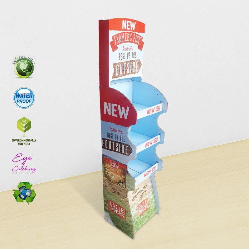 3 Tiers Cardboard Display Stand for Foods