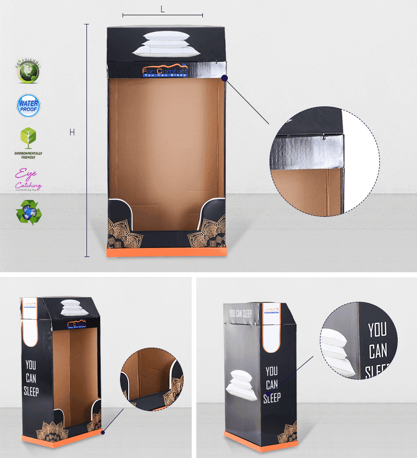 Hot cardboard greeting card display stand stores CAI YI JIE Brand
