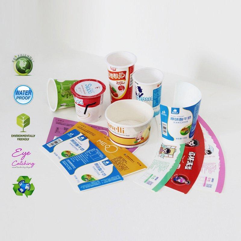 color printing paper cup sleeves for milk or yogurt cup