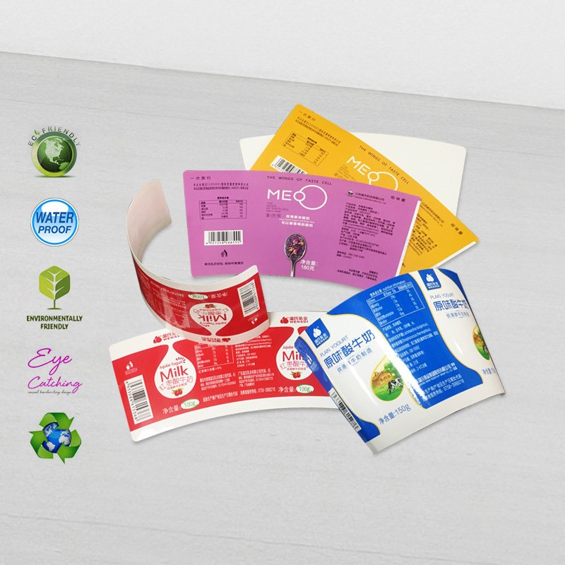 CAI YI JIE color printing paper cup sleeves for milk or yogurt cup Cardboard Packaging Box image11