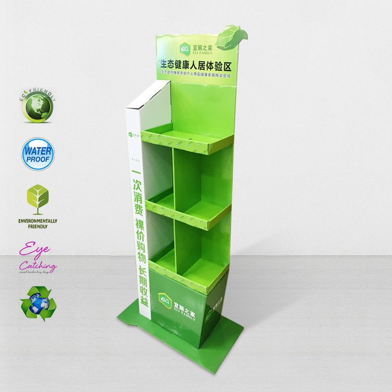 CAI YI JIE Cardboard Modeling Display For Green Items Cardboard Floor Display image8