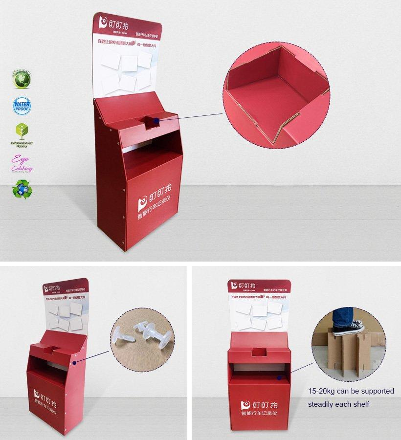 CAI YI JIE super cardboard card display stand printing