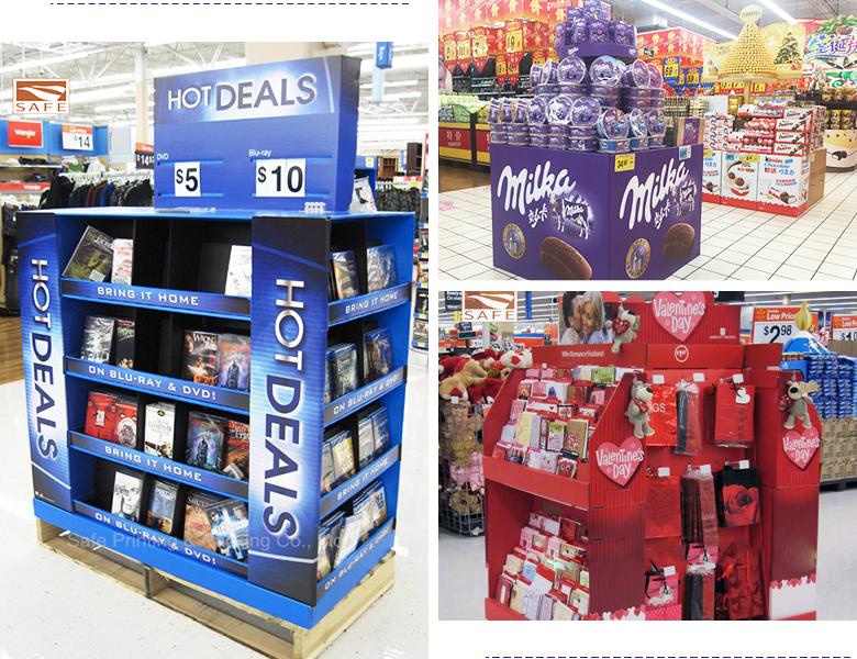 Cardboard Display Hook Stands For Marketing Advertising-12