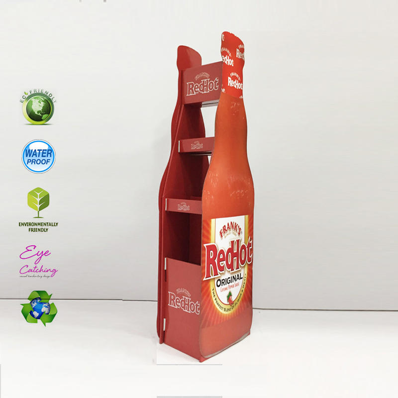 Cardboard Beer Bottle Display Rack For Hot Sale Drink Milk Soft Drink