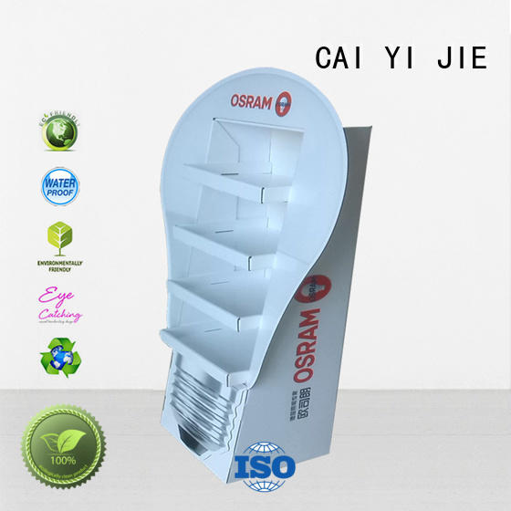 step cardboard greeting card display stand stand promotional CAI YI JIE Brand