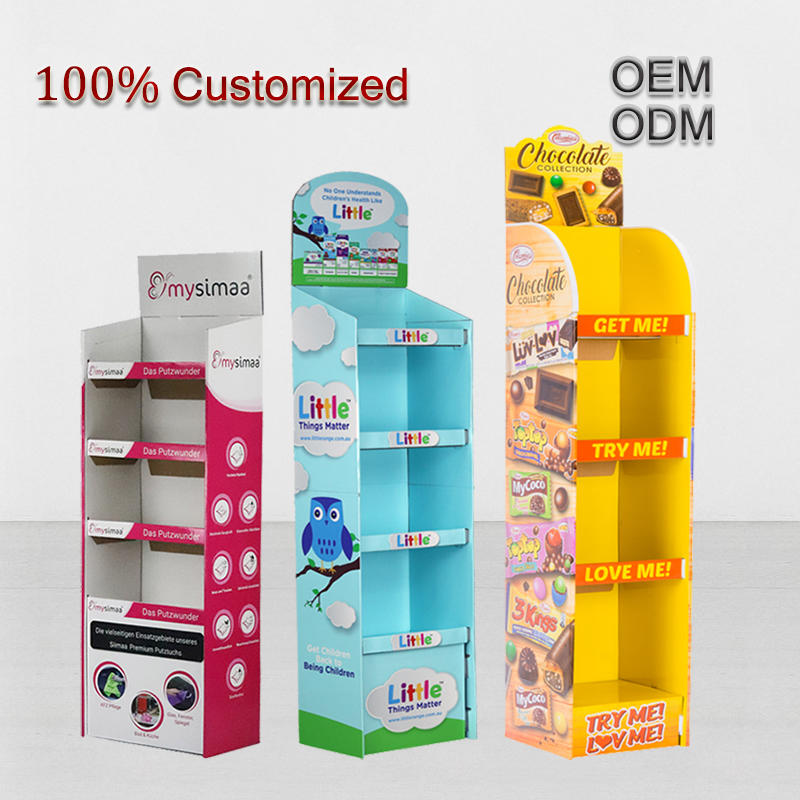 Custom Products Cardboard Display Box Carton Stackable Cardboard Display Stand Template for Mockup Cardboard Display Stand