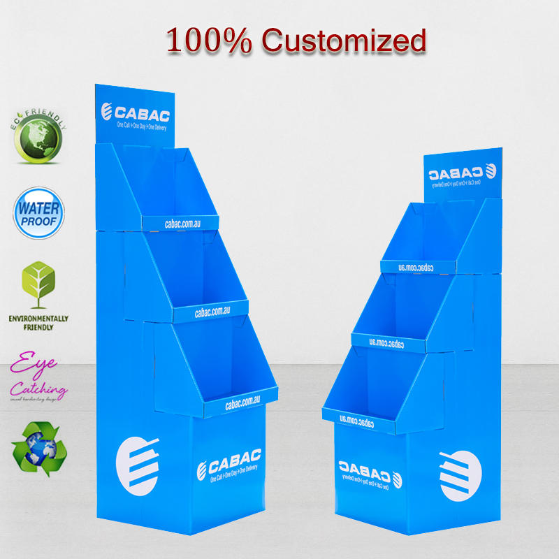 Custom Corrugated Paper Cardboard Display Stackable Box Carton, Template for Mockup Products Promotion