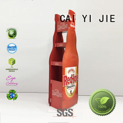 cardboard Custom stair displays cardboard stand CAI YI JIE promotional
