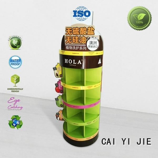 CAI YI JIE promotional floor display step for led light