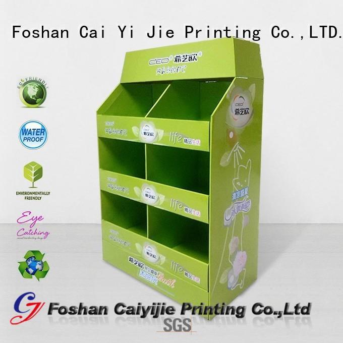 CAI YI JIE cardboard display rack racks for stores