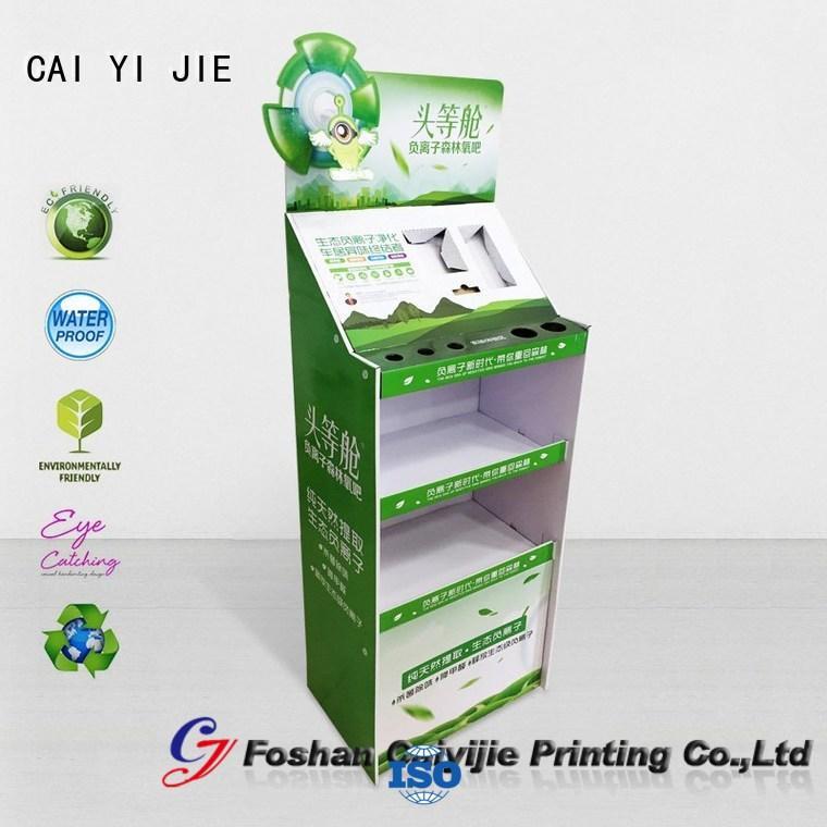 cardboard greeting card display stand product cardboard stand CAI YI JIE Brand