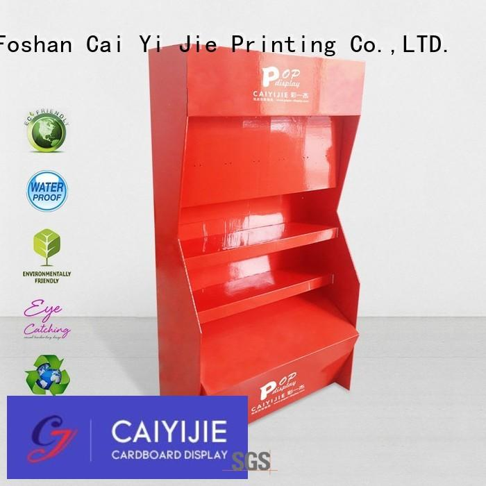 CAI YI JIE large cardboard display operation for beer
