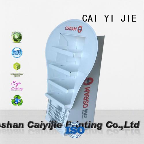 CAI YI JIE super cardboard display board for supermarket