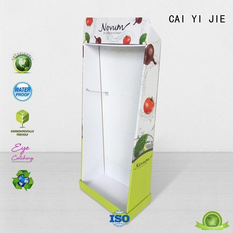 CAI YI JIE corrugated cardboard display board sale for store