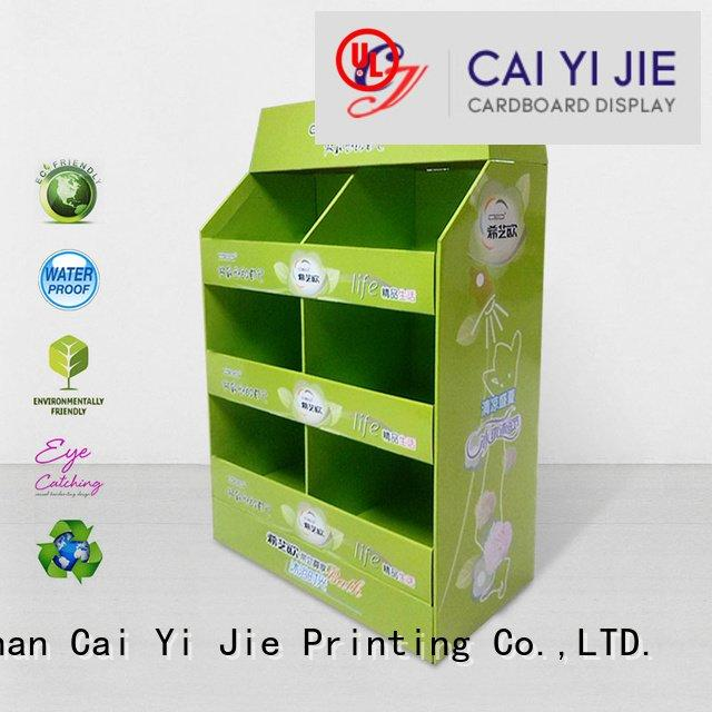 CAI YI JIE Brand easy pos pallet display install carton