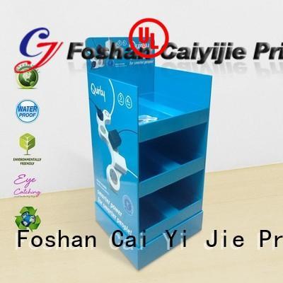 CAI YI JIE Brand cardboard tube cardboard stand stairglossy factory