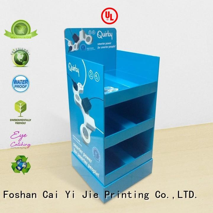 CAI YI JIE promotional cardboard tabletop display for beer