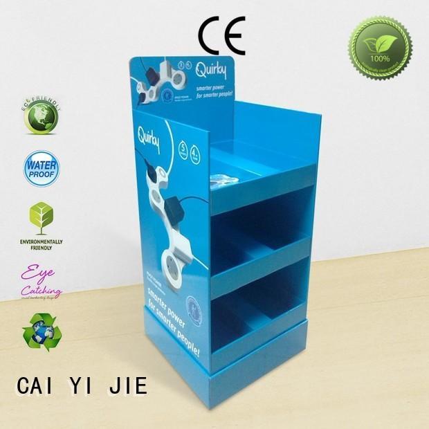 CAI YI JIE super cardboard display shelves