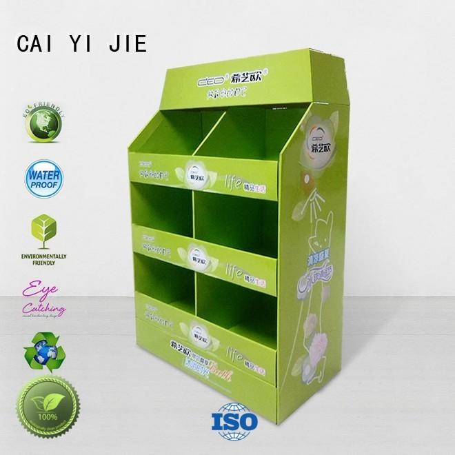 cardboard pallet display clip for shop CAI YI JIE
