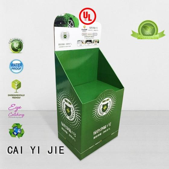 CAI YI JIE super cardboard poster stand rack for milk