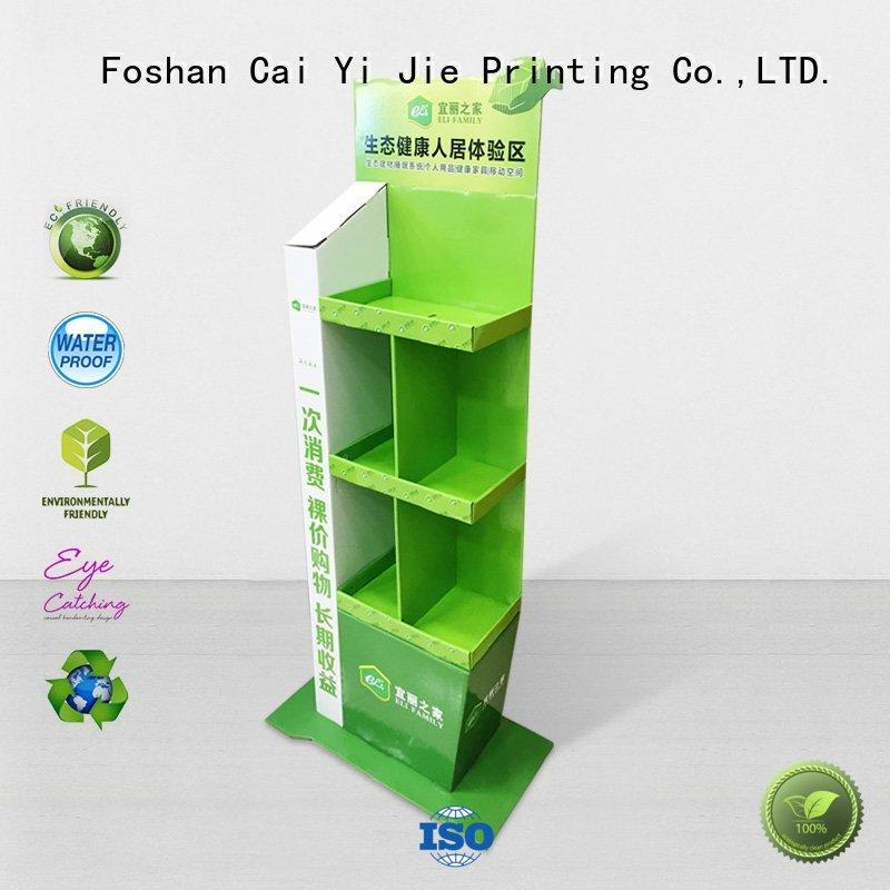 CAI YI JIE heavy floor display stands for led light