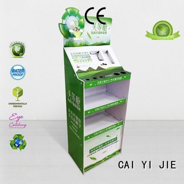 special cardboard floor display rack CAI YI JIE