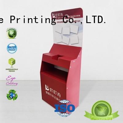 printed display cardboard greeting card display stand large cardboard stand CAI YI JIE Brand retail cardboard
