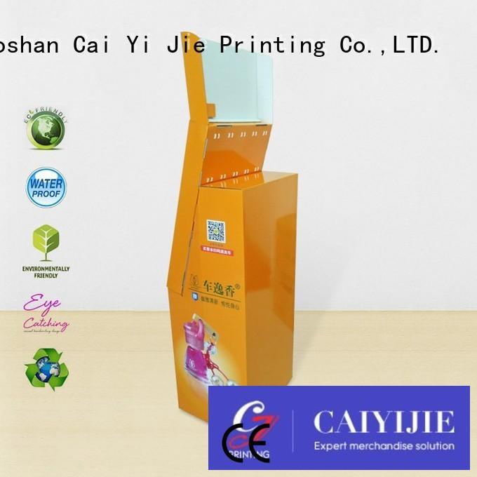 CAI YI JIE full color cardboard book display racks manufacturer for supermarket