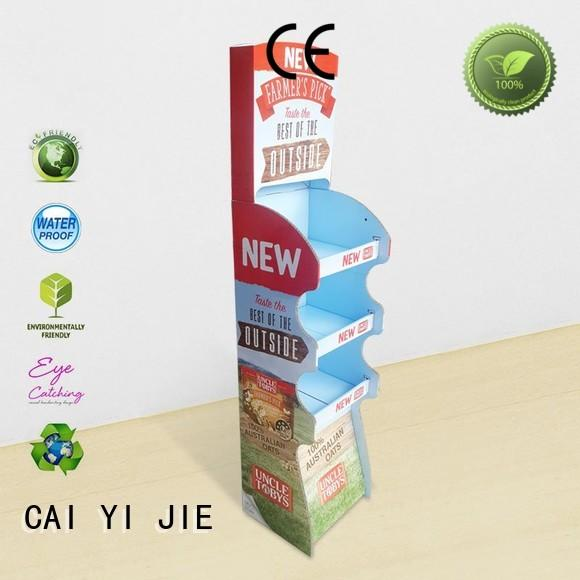 CAI YI JIE heavy cardboard display units stands