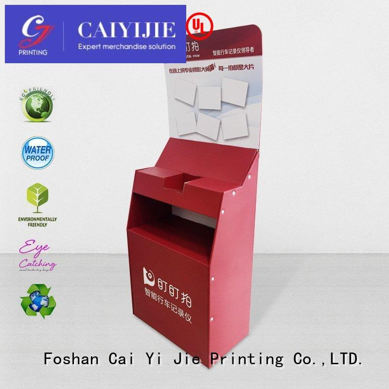 Hot space cardboard greeting card display stand product CAI YI JIE Brand