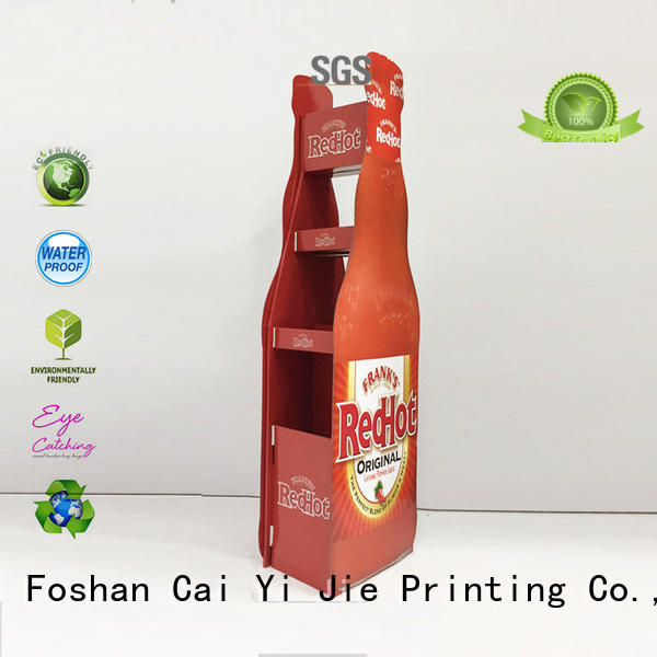 cardboard poster stand printed for cosmetics CAI YI JIE