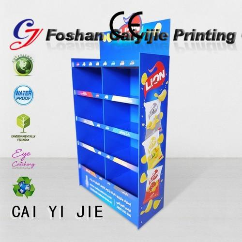 CAI YI JIE point of sale display shape for supermarket