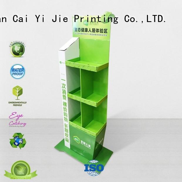 CAI YI JIE Brand stand cardboard greeting card display stand stair supplier