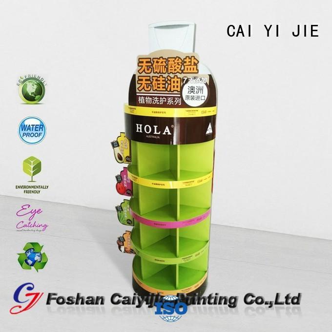 large retai cardboard greeting card display stand CAI YI JIE Brand