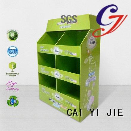 CAI YI JIE cardboard clip racks cardboard pallet display carton