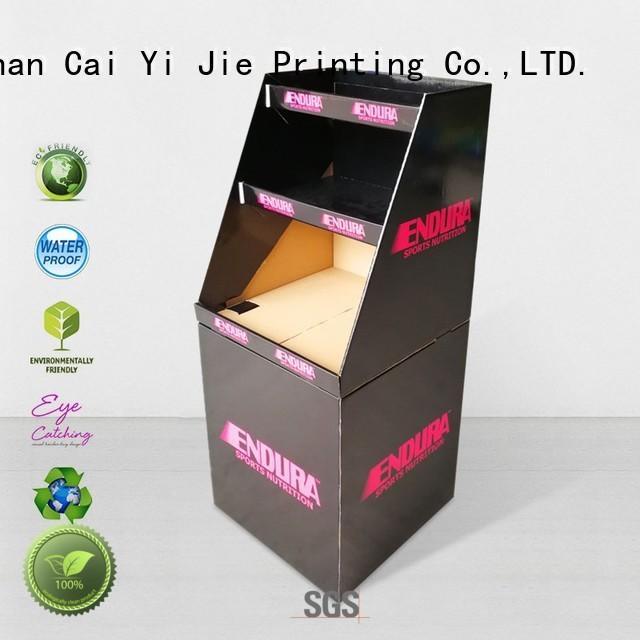 CAI YI JIE cardboard bins floor standing for commodities