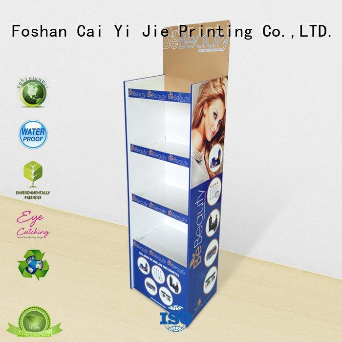CAI YI JIE Brand pop sale cardboard greeting card display stand retai stairglossy