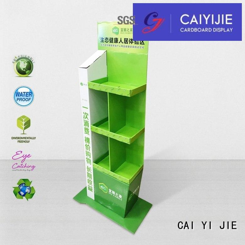 CAI YI JIE stainless tube cardboard pop displays workbench for beer