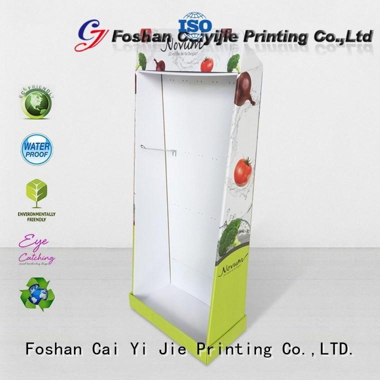 CAI YI JIE Brand stair stairglossy cardboard greeting card display stand