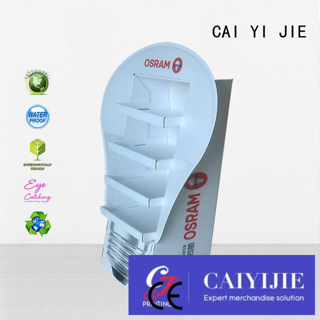 CAI YI JIE Brand stores stands promotional cardboard greeting card display stand printing