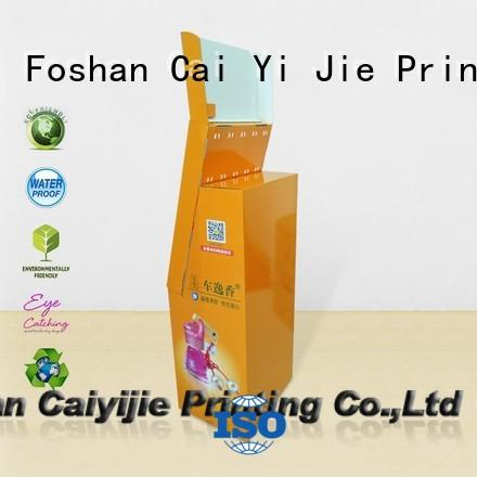 cardboard book display racks automotive for perfume CAI YI JIE