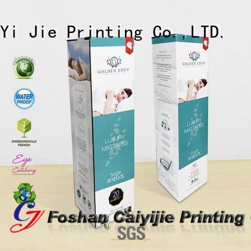 CAI YI JIE custom packaging boxes sleeves for mattress display