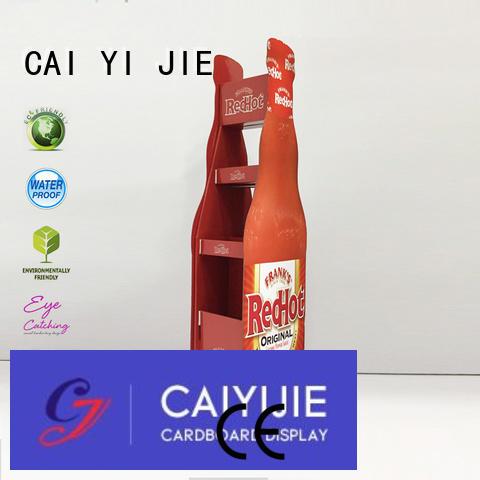 CAI YI JIE Brand displays pop cardboard greeting card display stand large