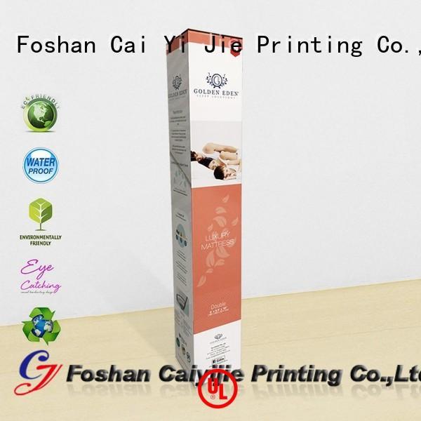 CAI YI JIE corrugated cardboard boxes customization for milk display