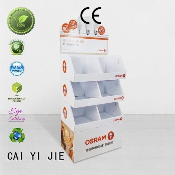 cardboard book display stand special fordrink CAI YI JIE