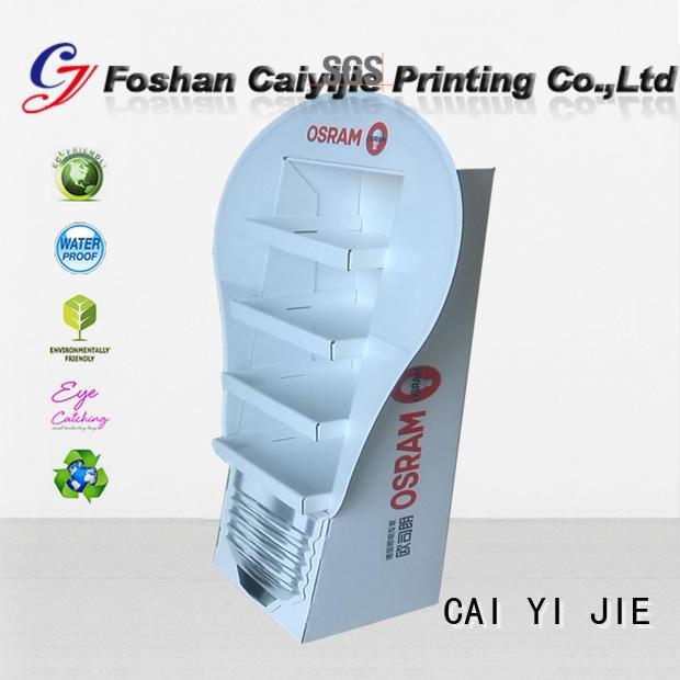 Wholesale super display cardboard stand CAI YI JIE Brand