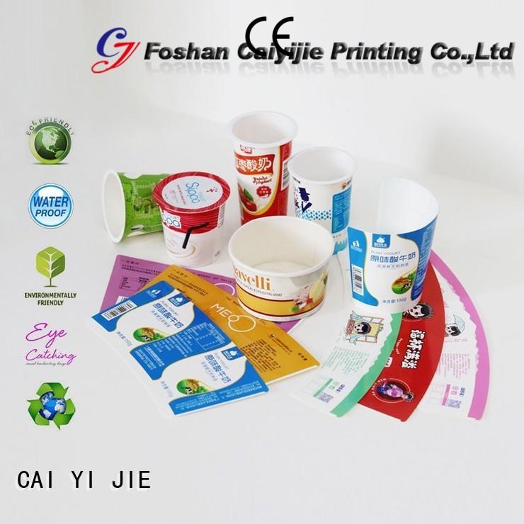 ODM cardboard box manufacturers for yogurt display CAI YI JIE